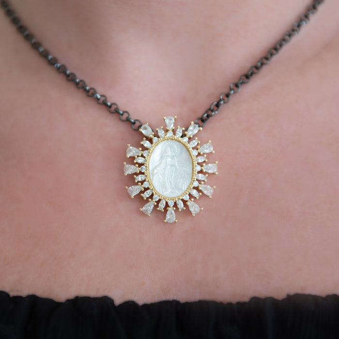 Mother of Pearl Mary Necklace - SOLD OUT!