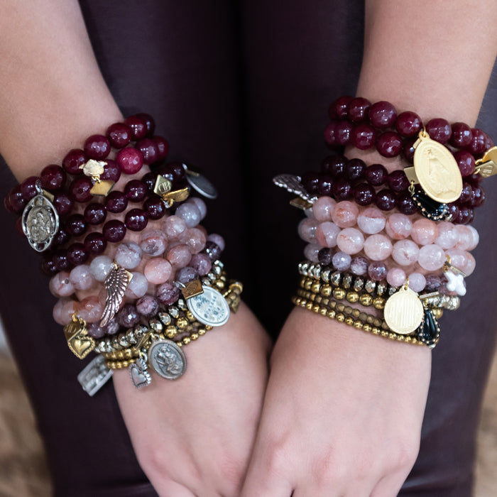 Cranberry Blessings Bracelet