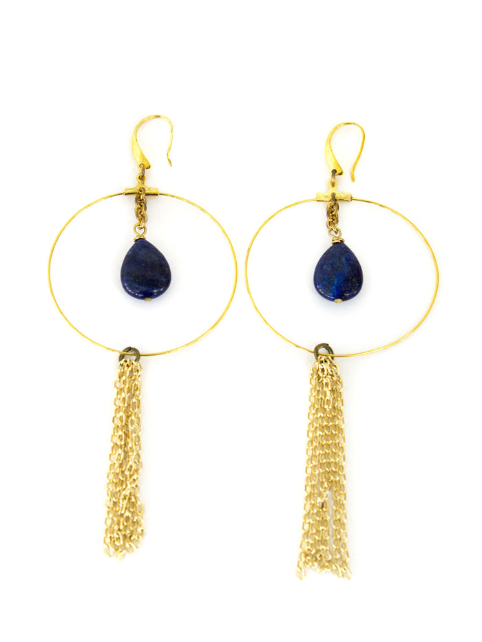 Chandler Earrings - Lapis