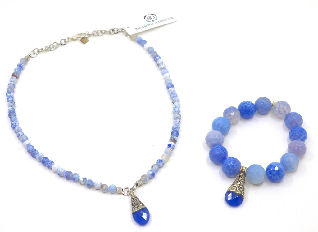 """Blue Bayou"" Necklace Set"