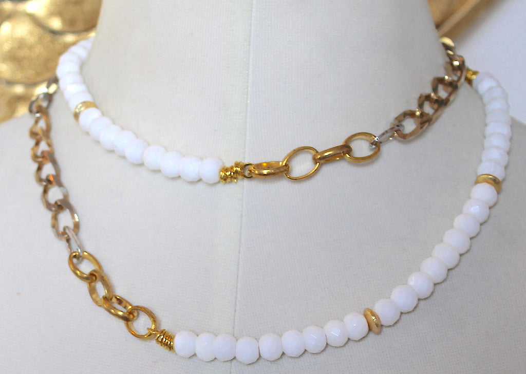 """Crisp White"" Necklace"