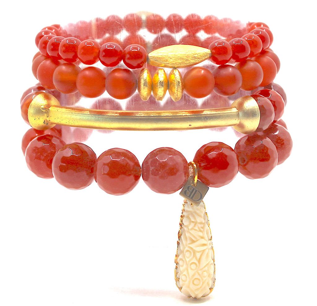 """Fiery Sunset"" Stack"