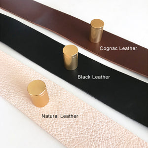 Classic Unbleached Performance Linen - Wall Hung Headboard Cushion with Leather Straps