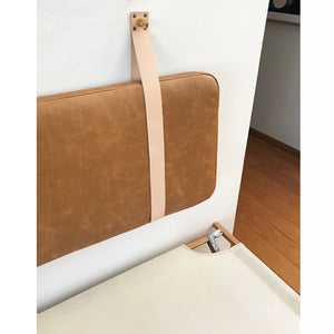 Honey Leather - Wall Mounted Headboard Cushion with Straps