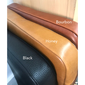 Bourbon Leather Headboard Cushion with Straps