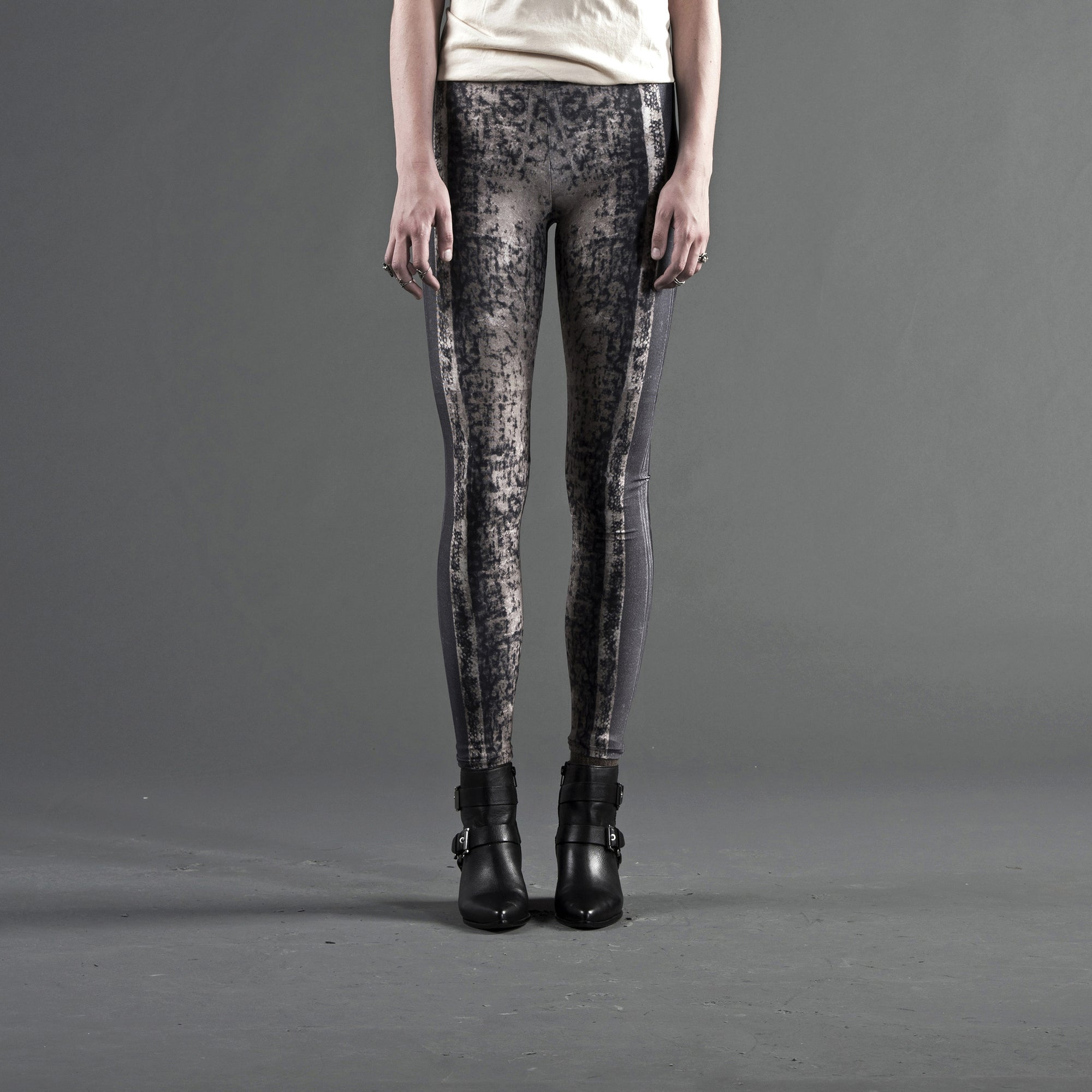 Leggings - Leather Bound Book Print, Elastic Waist