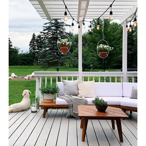Set of TWO, THREE or FIVE - Hanging Plant Holder Set - White