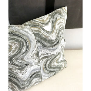 "20x20 Square - Cotton Canvas Pillow Cover - ""Marbled Agate"""