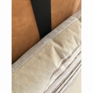 20x20 Square - Horizon Pillow Cover -  Gold Zipper