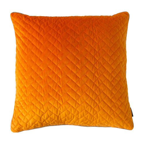 Image of the Tetris Quilted Cuhion Cover | Clementine/Dove | Paoletti