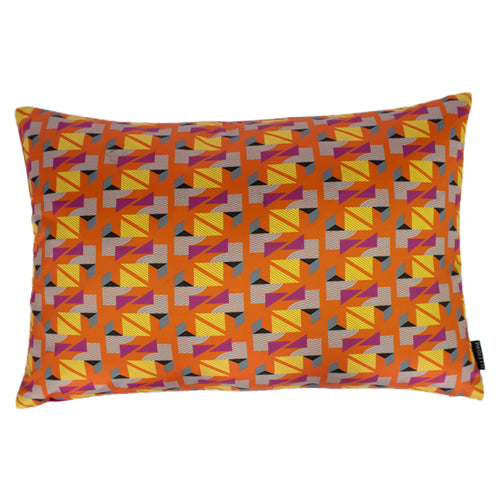 Image of the Vienna Geometric Cuhion Cover | Orange | Paoletti