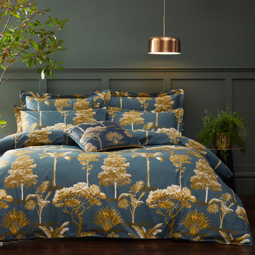 Image of the Arboretum World Trees Duvet Cover Set | Blue | Paoletti