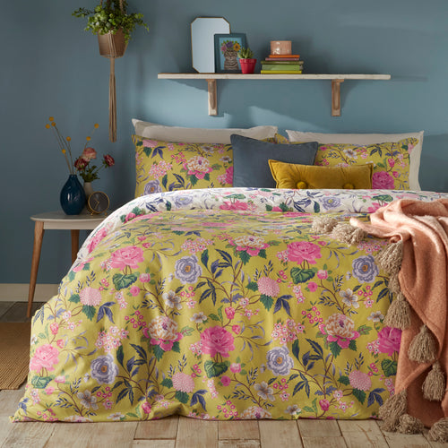 Image of the Azalea Floral Duvet Cover Set | Bamboo | furn.