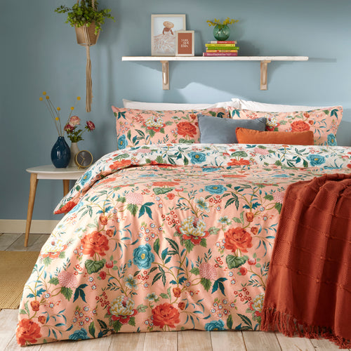 Image of the Azalea Floral Duvet Cover Set | Pink | furn.