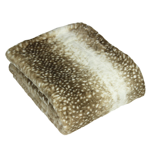 Image of the Fawn Faux Fur Throw | Multicolour | Paoletti