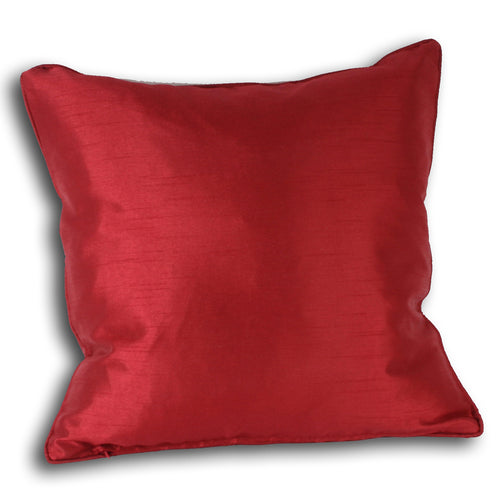 Image of the Fiji Faux Silk Cuhion Cover | Red | Paoletti