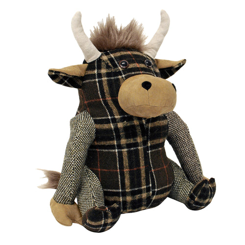 Image of the Highland Cow Novelty Door Stop | Brown | Essentials