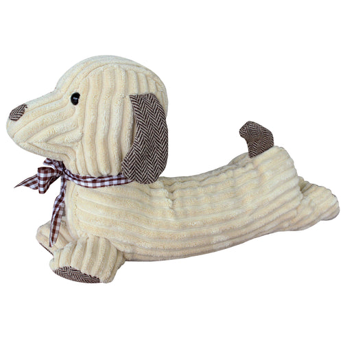 Image of the Hugo Corduroy Dog Door Stop | Cream | Essentials