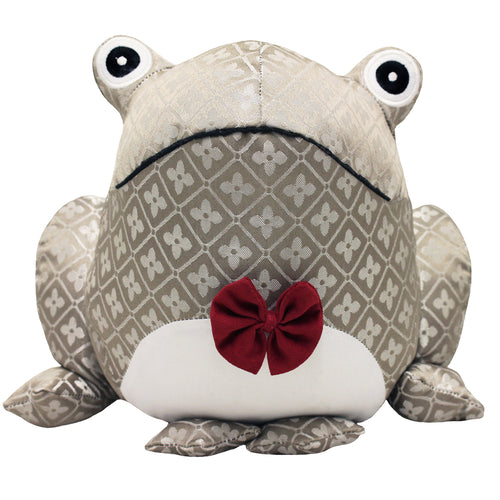 Image of the Jacquard Frog Jacquard Door Stop | Multicolour | Essentials