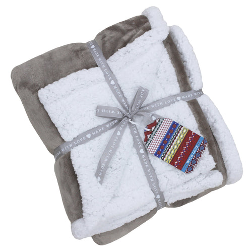 Image of the Lux Sherpa Fleece Throw | Mocha | Essentials