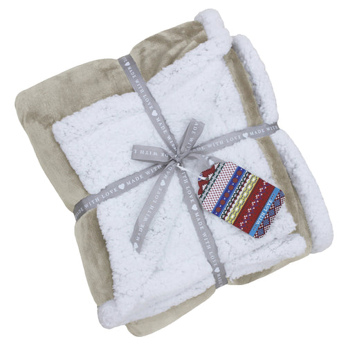 Image of the Lux Sherpa Fleece Throw | Natural | Essentials