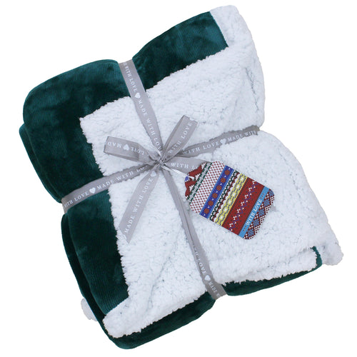 Image of the Lux Sherpa Fleece Throw | Teal | Essentials