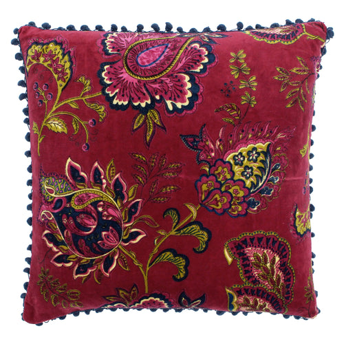 Image of the Malisa Paisley Cuhion Cover | Pomegranate | Paoletti