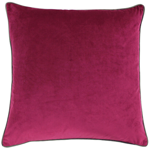 Image of the Meridian Velvet Cuhion Cover | Cranberry/Mocha | Paoletti