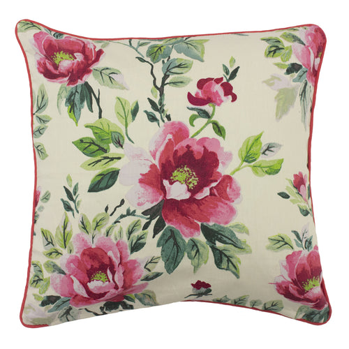 Image of the Peony Country Floral Cuhion Cover | Fuchsia | furn.