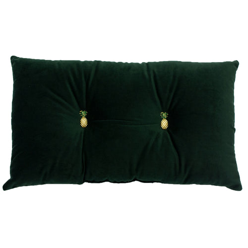 Image of the Pineapple Velvet Ready Filled Cuhion | Emerald Green | Paoletti