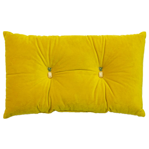 Image of the Pineapple Velvet Ready Filled Cuhion | Yellow  | Paoletti