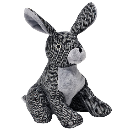 Image of the Roger Rabbit Herringbone Novelty Door Stop | Grey | Essentials