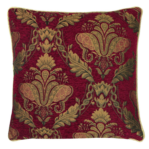 Image of the Shiraz Traditional Jacquard Cuhion Cover | Burgundy | Paoletti