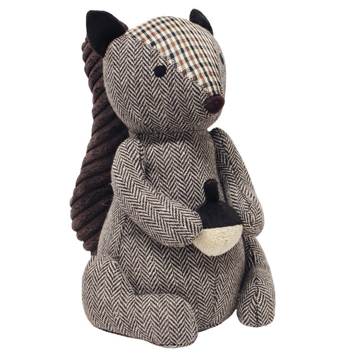 Image of the Squirrel Herringbone Novelty Door Stop | Brown | Essentials