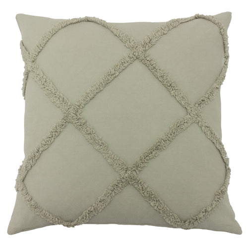 Image of the Tago Diamond Tufted Cuhion Cover | Grey | The Linen Yard