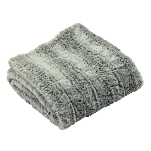 Image of the Tundra Faux Fur Throw | Grey | furn.