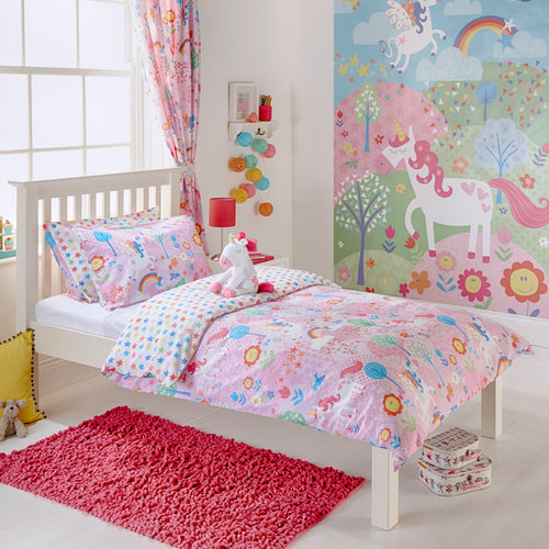 Image of the Unicorn Kids Duvet Cover Set | Pink | little furn.