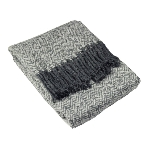 Image of the Weaver Herringbone Throw | Grey | furn.