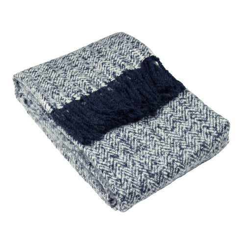 Image of the Weaver Herringbone Throw | Navy | furn.