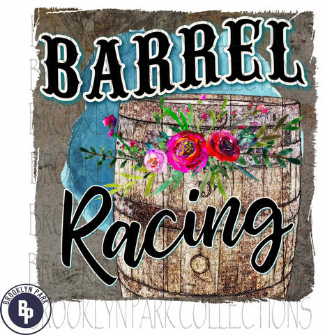 Barrel Racing, Rodeo, Floral, SUBLIMATION TRANSFER, Ready To Press, - Brooklyn Park Collections LLC