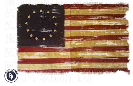 Betsy Ross, Vintage American Flag, 13 Star, SUBLIMATION TRANSFER, Ready To Press, - Brooklyn Park Collections LLC