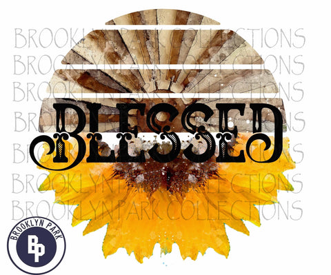 Blessed, Sunflower, Windmill, Farm, SUBLIMATION TRANSFER, Ready To Press, - Brooklyn Park Collections LLC