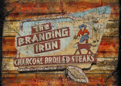 Branding Iron Sign Art, Cowboy Western, Farm Ranch Life, SUBLIMATION TRANSFER, Ready Press, - Brooklyn Park Collections LLC