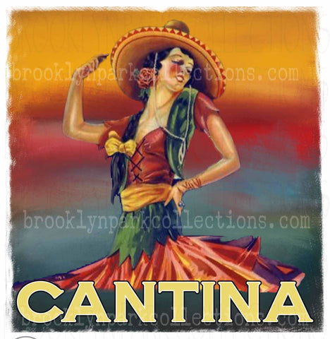Image of CANTINA, Sublimation Transfer, Ready To Press, Southwest, Sunset Watercolor - Brooklyn Park Collections LLC