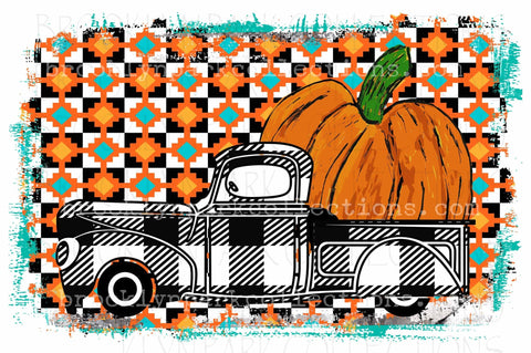 Happy Fall, Lumberjack Truck, Pumpkin, Instant Digital Download, Art Print, Sublimation PNG, - Brooklyn Park Collections LLC