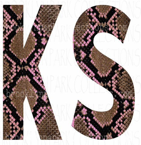 Kansas, KS, Rattlesnake Skin, Pink, SUBLIMATION TRANSFER, Ready To Press, Textile Print - Brooklyn Park Collections LLC