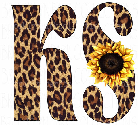 KS, Kansas, Leopard Sunflower, Cheetah, Instant Digital DOWNLOAD, Sublimation PNG, Art Print - Brooklyn Park Collections LLC