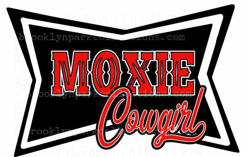 Moxie Cowgirl Design, Instant DIGITAL Download, Sublimation PNG, Art Print Graphics - Brooklyn Park Collections LLC