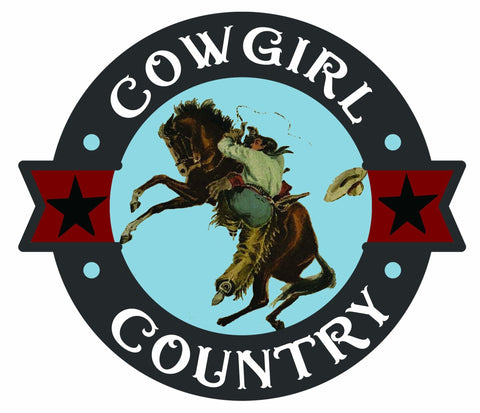 Image of Sassy Cowgirl Co., Cowgirl Country, Bucking Horse, SUBLIMATION TRANSFER, Ready To Press - Brooklyn Park Collections LLC
