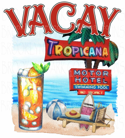 Tropicana, Beach Vacation, Instant Digital Download, Sublimation PNG, Clip Art, - Brooklyn Park Collections LLC